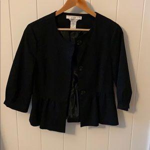 Black button down blazer